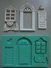Silicone Mould WINDOW AND DOOR Sugarcraft Cake Decorating Fondant / fimo mold