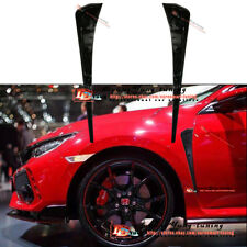 Type R  Glossy Black Side Fender Vent Air Wing Cover Trim fo Honda Civic 2016-18