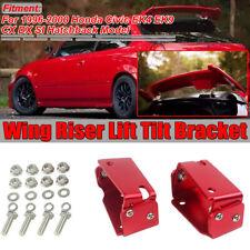 Type R Spoiler CTR Wing Riser RED Tilt Brackets For Honda Civic EK9 3DR 96
