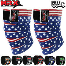 Weight lifting Knee Wraps Deadlift Guard Powerlifting Workout Gym Sleeves 1 Pair
