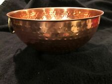 "Copper Bowl Fancy Pattern With Handle 9 1/4"" by 4 1/2"""