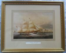 Framed print 'The Barque Koh-i-Noor off the Cape of Good Hope' by John Scott