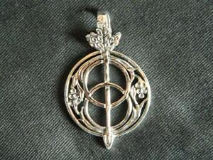 CHALICE WELL PENDANT/Double Sided/925 Sterling Silver/Glastonbury/Pagan/Wicca