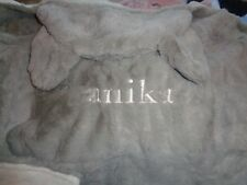 Pottery Barn Kids nursery fur critter elephant bath wrap mono Anika New