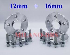4 DISTANZIALI RUOTA 12+16mm AUDI A3 / S3 / RS3 (Type 8V) + BULLONI