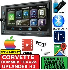 CORVETTE HUMMER H3 APPLE CARPLAY GPS NAVIGATION BLUETOOTH CAR RADIO STEREO