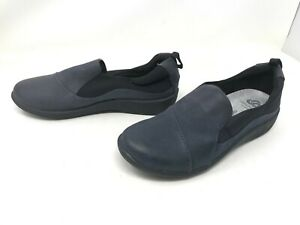 Womens CloudSteppers by Clarks (61017124) Sillian Paz Navy Loafers (403M)