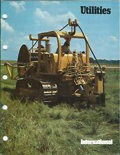Equipment Brochure - International Ih - Utilities Applications - c1975 (E6224)