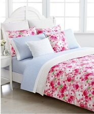 7-Pc Tommy Hilfiger Rose Cottage King Comforter Set Shabby Chic Floral Polka Dot