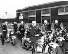 Late 1960s Metropolitan Toronto Police Force motorcycle Squad 8 x 10 photograph
