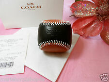 NWT COACH 64677 NAVY AND ORANGE BASEBALL PAPER WEIGHT GIFT READY FREE SHIP !