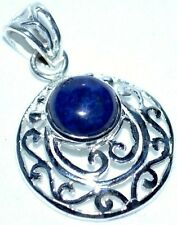 Plata de Ley 925 Lapislázuli Azul Piedra Preciosa Filigrana Colgante Único