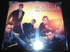 Westlife When You're Looking Like That Rare Australian CD Single - Like New