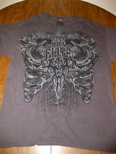 MMA ELITE large T shirt Mixed Martial Arts tee skulls & spinal cord OG extreme