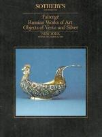 Sotheby's Faberge Russian Artworks Vertu Silver Auction Catalog 1986