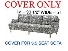 Ikea STOCKSUND COVER SLIPCOVER Hovsten Gray White FOR 3.5 SEAT SOFA 203.063.73