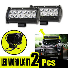 LED Work Light 36W 7'' Car Flood Bulbs Bar Offroad Fog Light 4WD For Jeep 2Pcs