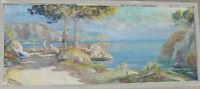 Paul JOUVET Calanques sur la Côte Provençale Huile Tableau peinture