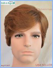 Men's Wig  Color #10 Brown New Man Wig Men 1193