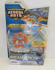 Transformers Rescue Bots Heat Wave The Fire Bot Figure Beam Box Game Pack