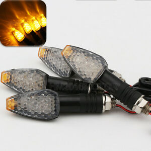 4x Motorcycle LED Turn Signal Lights For Honda CBR 250R 929 954 RR ST1100 ST1300