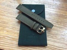 20mm Canvas Military Green Band w/ Gold Plated Rolex Buckle w Suede Rolex Pouch