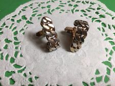 Chain Link Design Cufflinks Nice Vintage Pair Of Designer Signed Swank