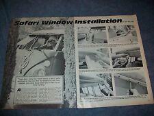 1986 Volkswagen Bus Type 2 Safari Window Install How To Info Vintage Article