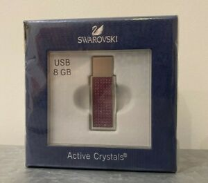 Swarovski 8GB USB Stick, Pink Active Crystals - Never been opened (see pictures)