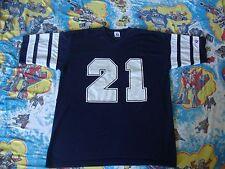 Vintage NFL Dallas Cowboys Deion Sanders Jersey Style ringer V Neck T Shirt L