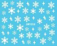 Nailart stickers autocollants ongles scrapbooking: étoiles flocons de neige