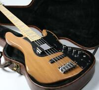 Top Quality 5 Strings JB Electric Bass Guitar ASH Body Nature Finish Active