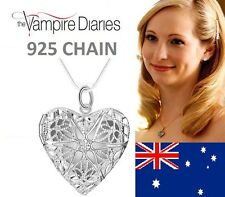 "925 Sterling 20"" The Vampire Diaries Caroline Forbes Heart Vervain Necklace"