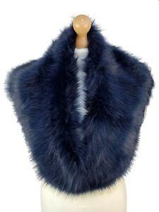 Winter Faux Fur Collar Scarf Super Soft Snood Pretty Shawl Wrap Cover Up