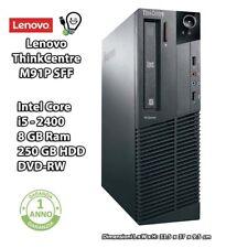 LENOVO ThinkCentre M91p Intel Core i5-2400 RAM 8 GB HDD 250 GB DVD-RW