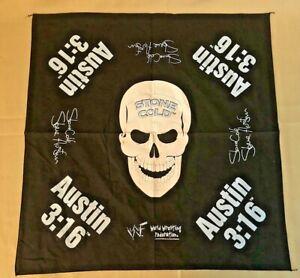Vintage 1998 Titan Sports WWF Stone Cold Steve Austin Bandana Handkerchief NEW
