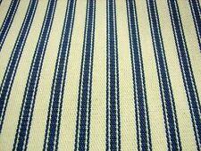 Azul Crema Algodón Francés A rayas Tejido 214cm Por 1.2 Metros SÚPer ANCHO