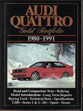 Audi Quattro 1980-1991 Oro Cartera Libro De Road pruebas por Brooklands Libros