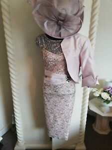 STUNNING  CHAMPAGNE MOTHER OF THE BRIDE OUTFIT SIZE 16