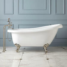 "61"" Hattie Acrylic Slipper Clawfoot Tub (Oil Rubbed Bronze Imperial Feet / No"