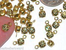 10pc Miniature tiny little swarovski Crystal Jonquil dangle Pendant charm 4mm