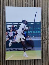 A Young Gael Monfils Hand Signed Colour Photograph Tennis Player