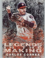 CARLOS CORREA 2018 Topps Series 1 LEGENDS IN THE MAKING Black #LTM-CC ASTROS