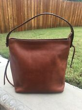 AUTHENTIC FOSSIL MAYA HOBO BROWN LEATHER BAG PURSE CUTE!!
