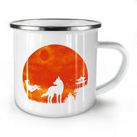 Wolf Moon Nature Animal NEW Enamel Tea Mug 10 oz | Wellcoda