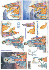 Le Suh 3D Motivbogen Etappenbogen Bilderbogen Grußkarte Maria & Josef (287)