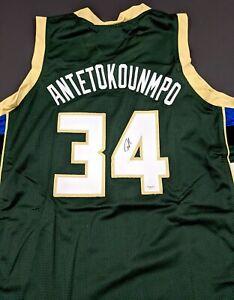 Giannis Antetokounmpo Autographed Signed Jersey Size XL COA