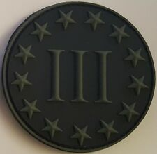 cb1986ccab0 US Special Ops Forces USN Seal 3% III% Morale PVC Patch Hook Back Black