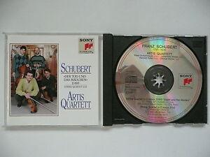 Artis Quartett plays Schubert Death & Maiden & Quartet in C D32 Sony 52582 CD