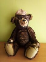 Vintage German 70's Mohair Teddy Bear Growler 17""